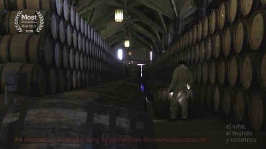 andanas de botas con vino de jerez sherry