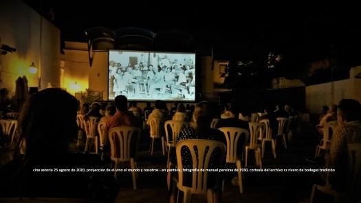 proyeccion de el vino el mundo y nosotros en cine astoria de jerez